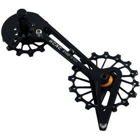 KCNC Jockey Wheel System para Shimano 10/11-Vel 14/16 Dientes Sus Rodamientos, negro